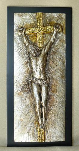 -crocifissione con mosaico