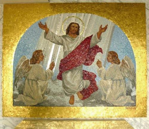 risurrezione con angeli 115x145 cm