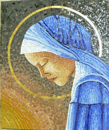 vergine in preghiera 50x60cm